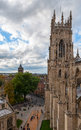 York minster england view from the roof top towards town centre Royalty Free Stock Photos