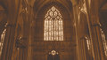 York Minster West Window Heart Of York low angle HDR sepia tone Royalty Free Stock Photo