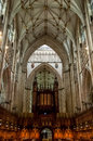 York minster in york england interior of the united kingdom Stock Photography