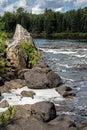 Downstream Rapids At Egan Chutes Royalty Free Stock Photo