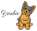 Yorkie with his name