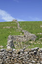 Yorkshire Dales dry stone wall Royalty Free Stock Photo