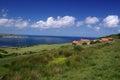 The yorkshire moors coast a photo of Royalty Free Stock Photos