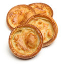 Yorkshire puddings isolated straight from the oven Stock Photo