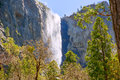 Yosemite bridalveil fall waterfall california national park Stock Photo