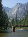 Yosemite falls and river Stock Photography