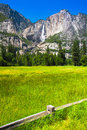 Yosemite falls in yosemite national park california usa Royalty Free Stock Photography
