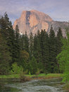 Yosemite Half Dome in Dusk Royalty Free Stock Photo