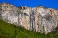 Yosemite Horsetail fall waterfall in spring California Royalty Free Stock Photo