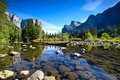 Yosemite landscapes water mirror reflection Stock Photos