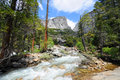 Yosemite national park hike to vernal waterfall in Stock Images