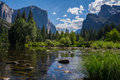 Yosemite national park merced river and u shaped valley—yosemite Royalty Free Stock Image