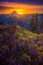 Yosemite National Park Sunrise Glacier Point Royalty Free Stock Photo