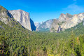 Yosemite National Park Valley in spring time Royalty Free Stock Photo
