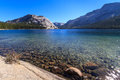 Yosemite national park view of lake tenaya tioga pass california Stock Photo