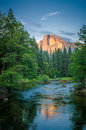 Yosemite nationalpark kalifornien usa Arkivfoto