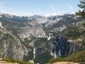 Yosemite: Nevada & Vernal Falls Stock Photos
