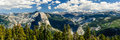 Yosemite panorama half dome Royalty Free Stock Photo