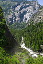 Yosemite River In summer On A Clear Day Royalty Free Stock Photos