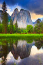Yosemite Rocks Reflection Royalty Free Stock Photo