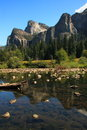 Yosemite usa nature water reflections Stock Images