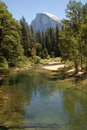 Yosemite valley and Half Dome Royalty Free Stock Photo