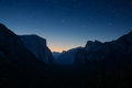 Yosemite valley by night Royalty Free Stock Photo