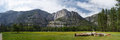 Yosemite valley panorama national park Stock Photography