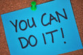 You Can Do It! Note on Pinboard Royalty Free Stock Photo