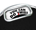You Can Do This Words Scale Diet Exercise Lose Weight Royalty Free Stock Photo