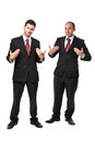 You can trust us two businessman standing on a white background Stock Images
