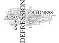 Are You Depressed Or Unhappy What Is The Difference Word Cloud Royalty Free Stock Photo