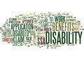 Are You Entitled To Claim Disability Benefits Word Cloud Concept