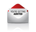 You are getting audited mail illustration design Royalty Free Stock Photography