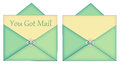 You Got Mail Blank Card With Enevelope Royalty Free Stock Photo