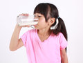 You got milk young girl drinking Royalty Free Stock Photo