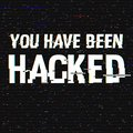 You Have Been Hacked glitch text. Anaglyph 3D effect. Technological retro background. Hacker attack, malware, virus Royalty Free Stock Photo