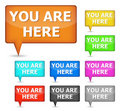 You are here button Stock Photo