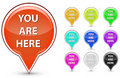 You are here button Royalty Free Stock Photos