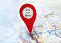 You Are Here locator Royalty Free Stock Photo
