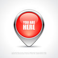 You are here map marker Royalty Free Stock Photo
