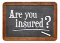 Are you insured question on a vintage slate blackboard Royalty Free Stock Images