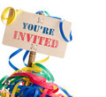 You are invited Royalty Free Stock Photo