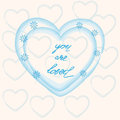 You are loved ,hand lettering Valentine's Day
