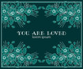 You are loved invitation greeting card design idea Royalty Free Stock Photo