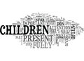 Are You Present With Your Children Word Cloud Royalty Free Stock Photo