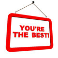 You re best written hang plate d white background encouragement motivation concept Stock Photos