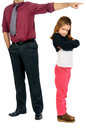 You re grounded young girl being by her father Royalty Free Stock Images