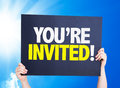 You're Invited! card with a beautiful day Royalty Free Stock Photo