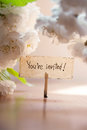 You're Invited Royalty Free Stock Photo